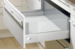 Frontauszug DesignSide Zargensystem HETTICH InnoTech, silber, Zargenhöhe 176 mm