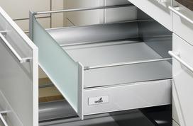 Cassetto interno 200 TopSide sistema di spondine HETTICH ArciTech, argento, altezza spondine 144 mm