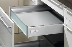 Cassetto interno 200 sistema di spondine HETTICH ArciTech, argento, altezza spondine 70 mm