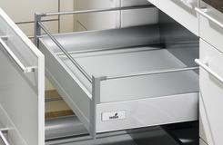 Innenauszug 100 TopSide Zargensystem HETTICH InnoTech, silber, Zargenhöhe 144 mm