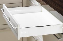 Cassetto sistema di spondine HETTICH InnoTech, bianco, altezza spondine 70 mm