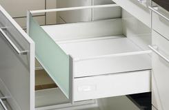Cassetto interno 200 TopSide sistema di spondine HETTICH InnoTech, bianco, altezza spondine 144 mm