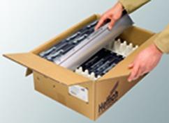 Zargensystem HETTICH InnoTech, silber, Zargenhöhe 70 mm