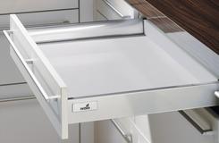 Schubkasten Zargensystem HETTICH InnoTech, silber, Zargenhöhe 54 mm