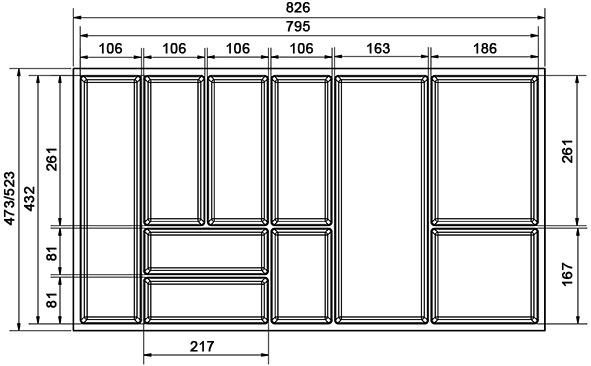 Besteckeinsatz Basic BLUM LEGRABOX M