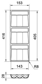 Gewürzdosenhalter Basic BLUM M