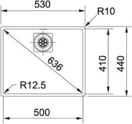 Eviers soubassement FRANKE Centinox CMX 110 50
