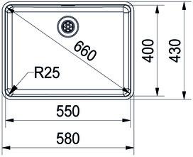 Eviers soubassement FRANKE Kubus KBX 110 55