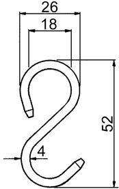 Crochets-S ø 16 mm