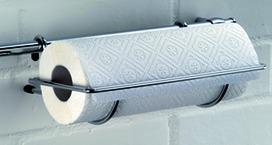 Support pour rouleaux de papier avec bord coupant ø 16 mm, acier inoxydable