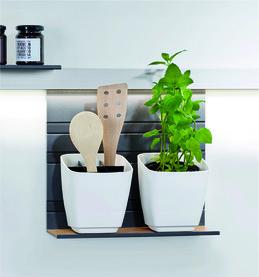 Support pour ustensiles / pots à herbes aromatiques Linero MosaiQ