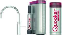 Kombinierte Heisswasserarmatur QUOOKER PRO3&CUBE Fusion Round