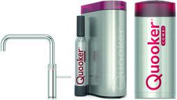 Kombinierte Heisswasserarmatur QUOOKER COMBI&CUBE Fusion Square