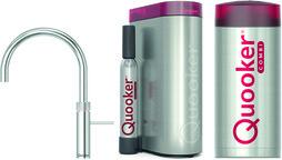 Kombinierte Heisswasserarmatur QUOOKER COMBI+& CUBE Fusion Round