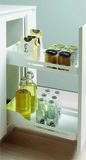 Roulements à double extension de façade pour armoires basses PEKA Snello 300