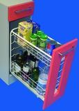 Roulements à double extension de façade pour paniers en fil et bouteilles ELFA