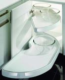 Carrousel d'élément d'angle à porte pliante NINKA PowerSlide magnia pour meubles d'angles 90° avec porte à charnières