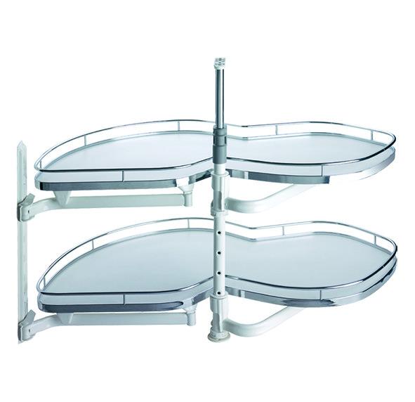 Carrousel d'élément d'angle à porte pliante PEKA LeMans II Arena Classic pour portes à charnières