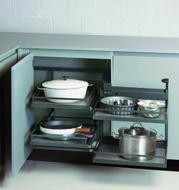 Ferrements pour armoires d'angle 90° PEKA Magic Corner Comfort