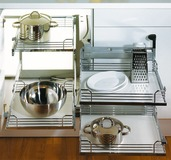 Ferramenta scorrevole per angoli cucine 90° PEKA Magic-Corner Comfort