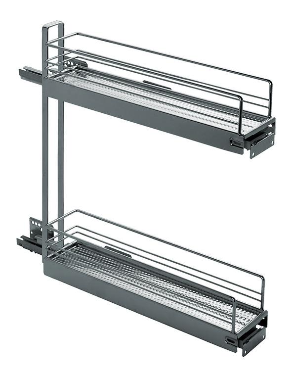 Roulements à double extension de façade pour armoires basses PEKA Classic 150