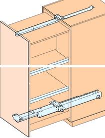 Hochschrank-Front-Vollauszüge EKU-FORTE für Holzkonstruktionen