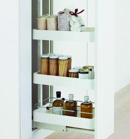 Jeu de système d'extension de façade pour armoire haute PEKA Standard