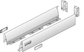 Sistema di spondine HETTICH InnoTech, rivestimento singolo, argento/bianco, altezza del sistema 70 mm