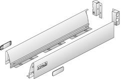 Zargensystem HETTICH InnoTech, Einzelbezug, silber/weiss, Systemhöhe 70 mm