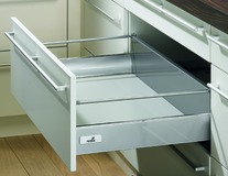 Frontauszug Zargensystem HETTICH InnoTech, silber/weiss, Zargenhöhe 144 mm