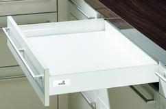 Schubkasten Zargensystem HETTICH InnoTech, silber/weiss, Zargenhöhe 54 mm