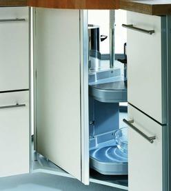 Carrousel d'élément d'angle à porte pliante NINKA MONDO pour éléments angulaires 45° pour portes pivotant entièrement en retrait