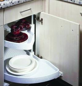 Eckschrank-Schwenktablarbeschläge NINKA für Eckmöbel 90° für scharnierte Türen