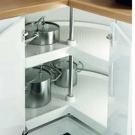 Eckschrank-Drehbeschläge NINKA für Eckmöbel 45°/90° mit scharnierten Türen