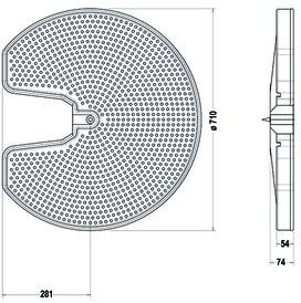 Rayons carrousels pour élément d'angle NINKA ECO 90°