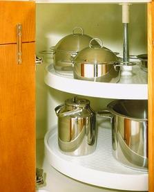Eckschrank-Drehbeschläge NINKA für Eckmöbel 45° mit scharnierten Türen