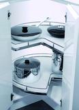 Ferrements de carrousel d'angle Recorner maxx pour meubles d'angle à 90° avec portes à charnières