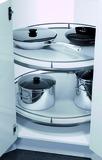Ferrements de carrousel d'angle Recorner maxx pour meubles d'angle à 45° avec portes à charnières