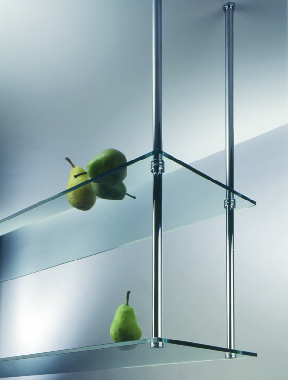 Ferrements pour rayons suspendus en bois ou en verre