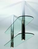 Ferrements pour rayons suspendus ø 50 mmpour 1 ou 2 rayons en bois ou en verre
