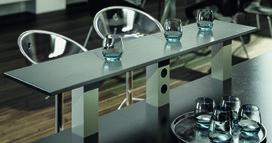 Mensole per bar Powerstation, ad angolo 80/80 mm, dritto