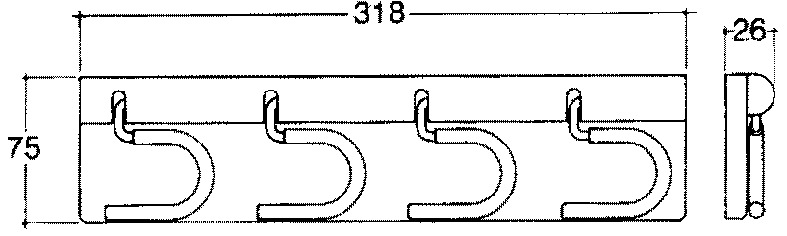 Porte-ustensiles, 4 pièces, blanc
