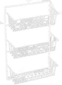Casiers pour armoires en fil, blanc