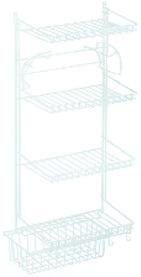 Casiers pour armoires en fil avec panier en fil métallique extractible, blanc