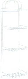 Casiers pour armoires en fil, avec porte-tuyaux, blanc