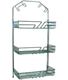 Casiers pour armoires en fil, avec porte-tuyaux, chromé