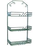 Draht-Schrank-Gestelle mit Schlauchhalter, verchromt