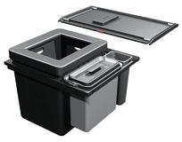Systeme de déchets FRANKE-Sorter Serie 350 H Composta 60 pour BLUM Tandembox