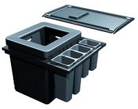 Sistema rifiuti FRANKE-Sorter Serie 350 H Varia per BLUM Tandembox