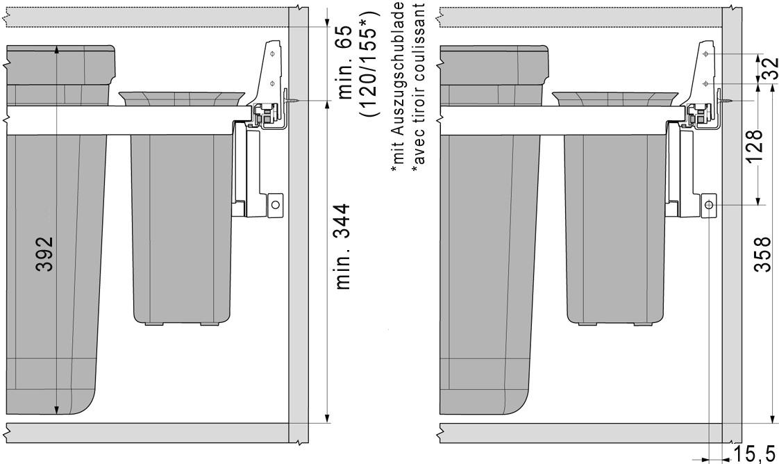 Secchio per rifiuti FRANKE-Sorter Serie 350